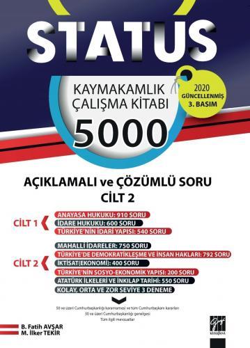 Status Kaymakamlık Çalışma Kitabı 5000 Açıklamalı Çözümlü Soru 2 Cilt