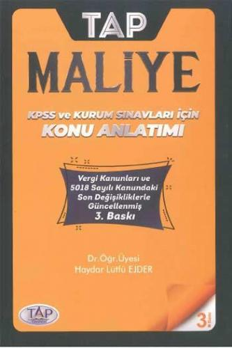 Tap Yayınları KPSS A Grubu Maliye Konu Anlatımı Haydar Lütfü Ejder