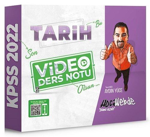 HocaWebde Yayınları 2022 KPSS Tarih Video Ders Notu Aydın Yüce
