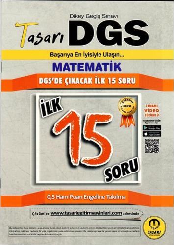 Tasarı Yayınları DGS Matematik İlk 15 Soru