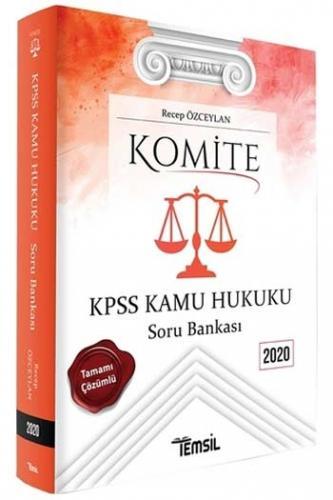 Temsil Yayınları 2020 KPSS Komite Kamu Hukuku Soru Bankası Recep Özce