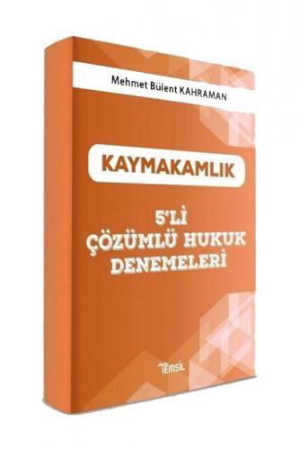Temsil Yayınları Kaymakamlık Hukuk 5 Deneme Çözümlü Mehmet Bülent Kahr
