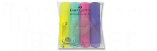 Faber-Castell Şeffaf Gövde Pastel Renkler 4'lü Poşet