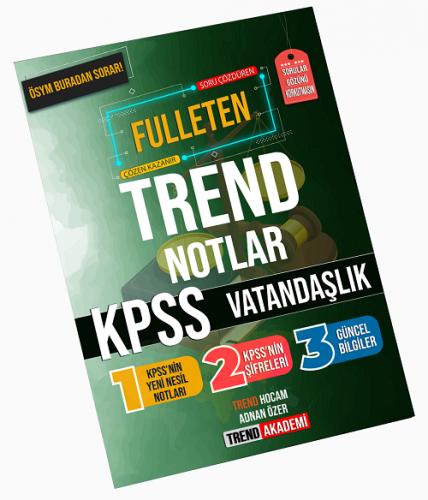 Trend Akademi KPSS Vatandaşlık Fulleten Trend Notlar Adnan Özer