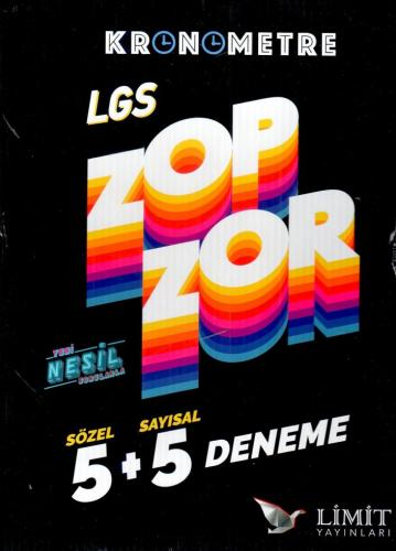Limit LGS Sözel Sayısal Kronometre Zopzor 5+5 Deneme