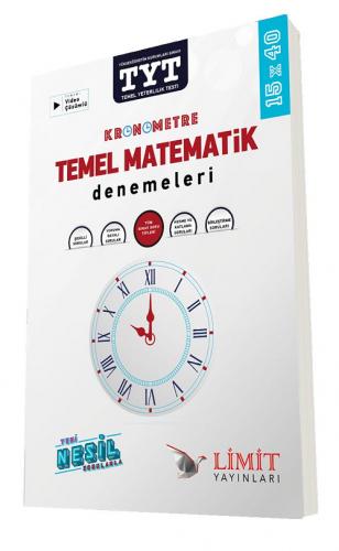 Limit Yayınları TYT Kronometre Temel Matematik 15x40 Deneme Sınavları