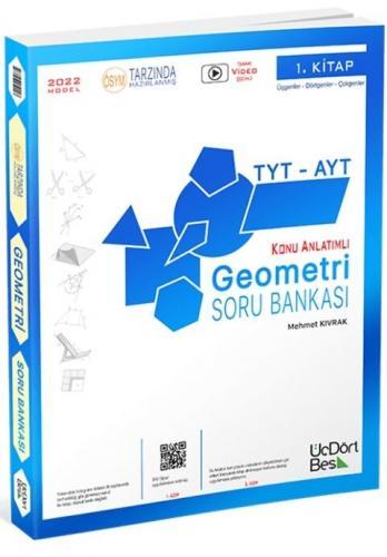 Üçdörtbeş Yayınları 2022 TYT AYT Geometri Konu Anlatımlı Soru Bankası