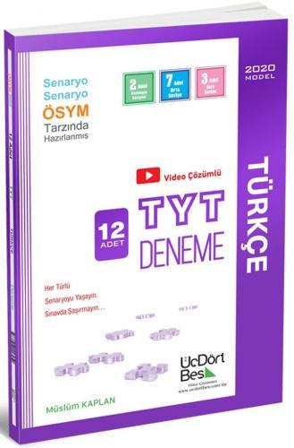 ÜçDörtBeş Yayınları TYT Türkçe Video Çözümlü 12 Deneme %40 indirimli
