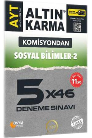 Altın Karma Komisyondan AYT Sosyal Bilimler 2 5x46 Deneme Sınavı
