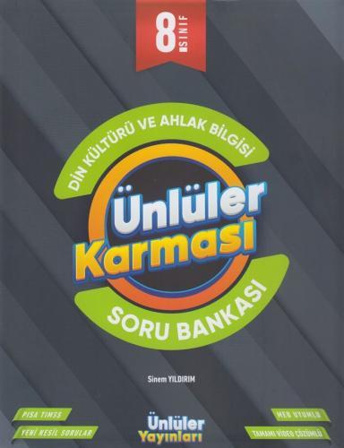 Ünlüler Yayınları 8. Sınıf Din Kültürü ve Ahlak Bilgisi Soru Bankası K