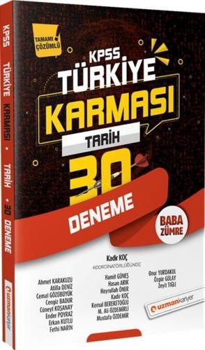 Uzman Kariyer Yayınları 2020 KPSS Tarih Türkiye Karması 30 Deneme Tama