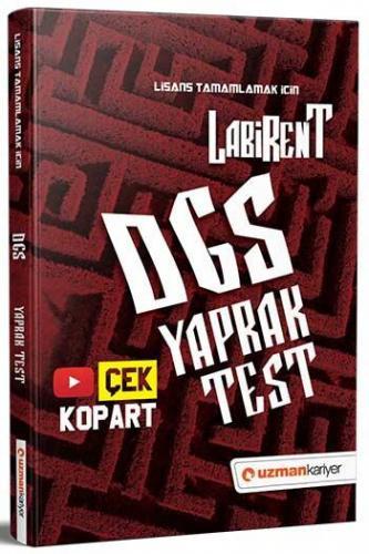 Uzman Kariyer Yayınları 2021 DGS Labirent Çek Kopar Yaprak Test Komisy