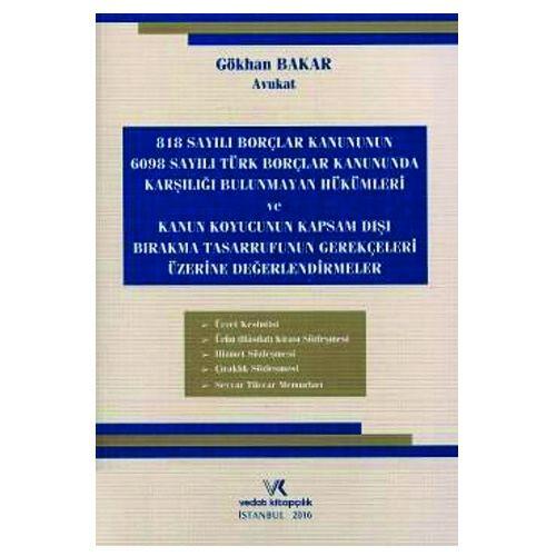 Vedat Türk Borçlar Kanununda Karşılığı Bulunmayan Hükümler