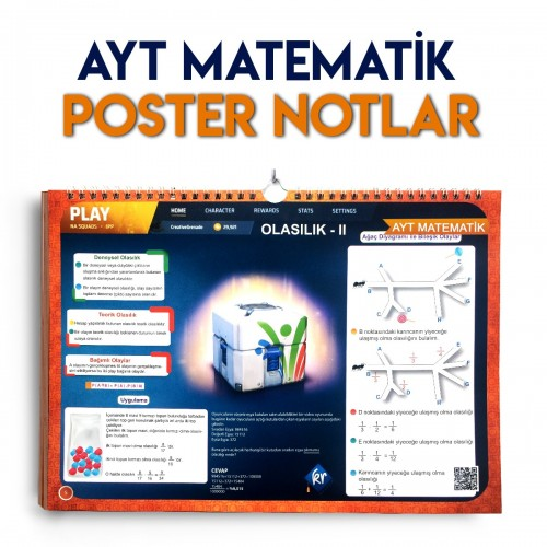 KR Akademi AYT Matematik Poster Notlar %35 indirimli