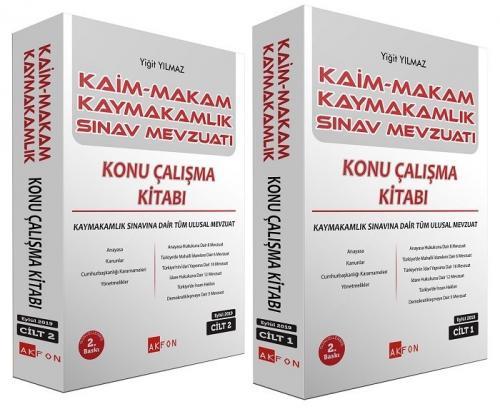 Kaim Makam Kaymakam Sınav Mevzuatı Konu Çalışma Kitabı 2 Cilt