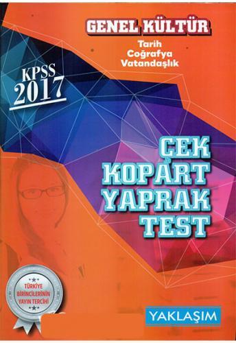 Yaklaşım Kariyer KPSS Genel Kültür Çek Kopart Yaprak Test 2017