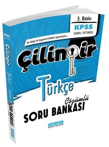 Yaklaşım Kariyer Yayınları KPSS Türkçe Çilingir Çözümlü Soru Bankası