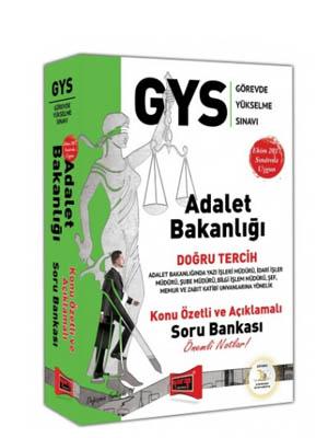Yargı GYS Adalet Bakanlığı Doğru Tercih Konu Özetli ve Açıklamalı Soru