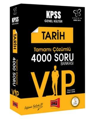 Yargı KPSS Değişim Serisi VIP Tarih Tamamı Çözümlü 4000 Soru Bankası 2018