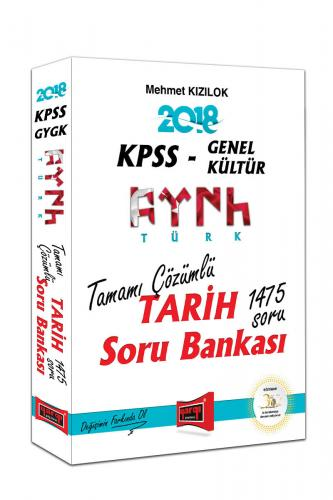 Yargı KPSS Genel Kültür Türk Tarih 1475 Soru Tamamı Çözümlü Soru Bankası 2018