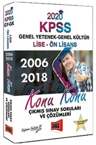 Yargı Yayınları 2020 KPSS Lise-Ön Lisans GY-GK Konu Konu 2006-2018 Çık