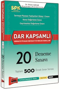 Yargı SPK Dar Kapsamlı Sermaye Piyasası Mevzuatı ve Meslek Kuralları Cevaplı 20 Deneme Sınavı