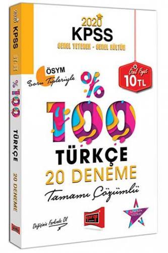 Yargı Yayınları 2020 KPSS Türkçe Tamamı Çözümlü 20 Deneme %0 indirimli