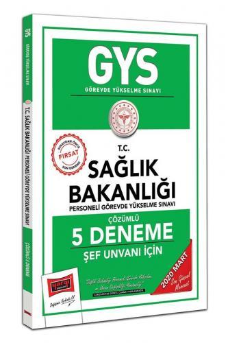 Yargı Yayınları 2020 GYS T.C. Sağlık Bakanlığı Şef Unvanı İçin Çözümlü 5 Deneme