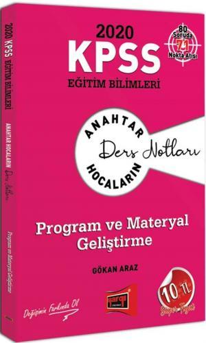 Yargı Yayınları 2020 KPSS Eğitim Bilimleri Program ve Materyal Geliştirme Ders Notları