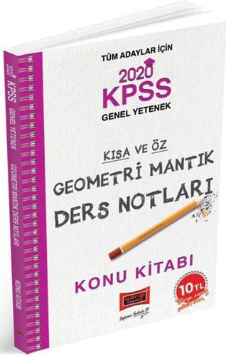Yargı Yayınları 2020 KPSS Geometri Mantık Kısa ve Öz Ders Notları