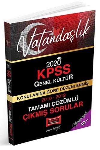 Yargı Yayınları 2020 KPSS Vatandaşlık Konularına Göre Düzenlenmiş Tamamı Çözümlü Çıkmış Sorular