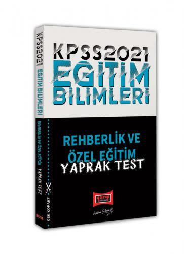 Yargı Yayınları 2021 KPSS Eğitim Bilimleri Rehberlik Yaprak Test Komis
