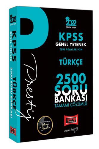 Yargı Yayınları 2022 KPSS Genel Yetenek Türkçe Prestij Seri Tamamı Çöz