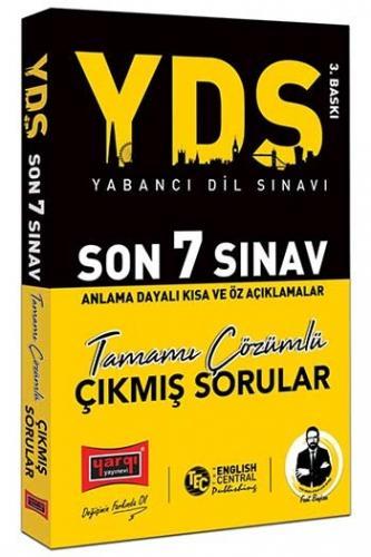 Yargı Yayınları YDS Son 7 Sınav Tamamı Çözümlü Çıkmış Sorular 3. Bask