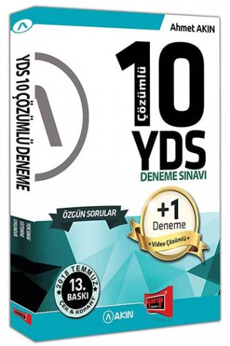 YDS Özgün Çözümlü 10+1 Deneme Sınavı