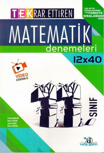 Yayın Denizi 11. Sınıf Matematik TEK Serisi 12 x 40 Denemeleri