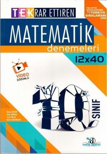 Yayın Denizi Yayınları 10. Sınıf Matematik TEK 12 x 40 Deneme