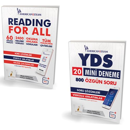 YDS 20 Mini Deneme ve Reading For All Seti - Müjde Sarıkaya, Hüseyin Sarıkaya