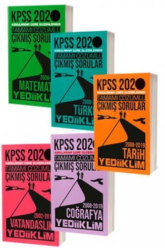 SET Yediiklim Yayınları 2020 KPSS Genel Yetenek Genel Kültür Tamamı Çö