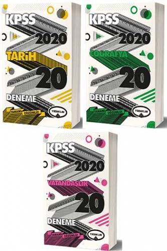 Yediiklim Yayınları 3 lü SET 2020 KPSS Genel Kültür Tamamı Çözümlü Deneme Seti