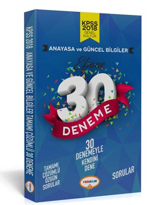 Yediiklim KPSS Anayasa Tamamı Çözümlü Efsane 30 Deneme
