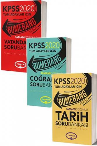 Yediiklim Yayınları 2020 KPSS Bumerang Genel Kültür Tamamı Çözümlü Sor