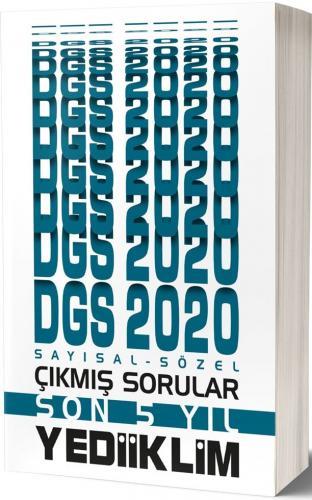 Yediiklim Yayınları 2020 DGS Sayısal Sözel Son 5 Yıl Çıkmış Sorular