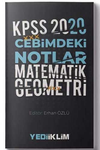 Yediiklim Yayınları 2020 KPSS Cebimdeki Notlar Matematik Geometri %45