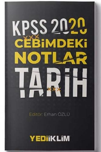Yediiklim Yayınları 2020 KPSS Cebimdeki Notlar Tarih %45 indirimli Ko