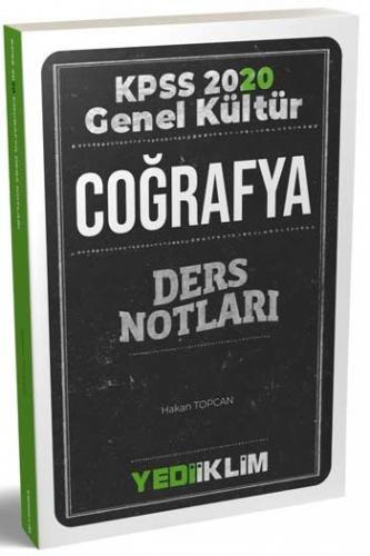 Yediiklim Yayınları 2020 KPSS Genel Kültür Coğrafya Ders Notları Hakan