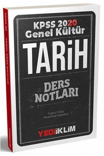Yediiklim Yayınları 2020 KPSS Genel Kültür Tarih Ders Notları