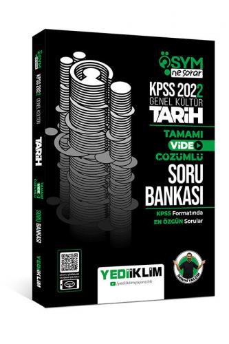 Yediiklim Yayınları 2022 KPSS Genel Kültür ÖSYM Ne Sorar Tarih Tamamı