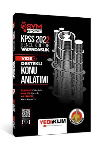 Yediiklim Yayınları 2022 KPSS Genel Kültür ÖSYM Ne Sorar Vatandaşlık V