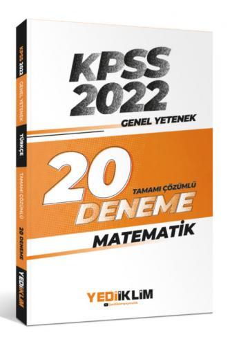 Yediiklim Yayınları 2022 KPSS Genel Yetenek Matematik Tamamı Çözümlü 2